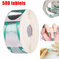 500Pcs Nail Art Tips Extension Forms Guide French DIY Tool Acrylic UV Gel Hot