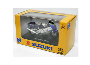 1:32 Suzuki GSX 1300R by New-Ray Toys in Blue and Silver 06027C