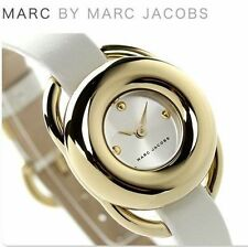 MARC JACOBS MJ1446 JERRIE GOLD  WHITE LEATHER WOMEN'S WATCH NEW