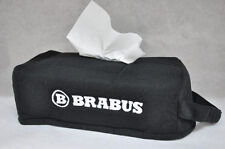 Black Car Seat Tissue Box Cover Holder Case w/ Embroidery Germany Brabus L@@K!!