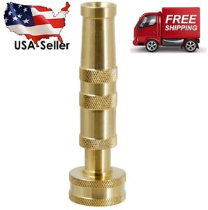 "Solid Brass Garden Spray Nozzle 4"" Adjustable Twist Water Hose Nozzle USA Stock"