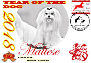 MALTESE 2018 YEAR OF THE DOG STAMP SOUVENIR COVER