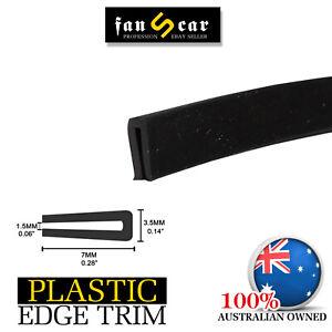 U Channel Car Door Window Hood Trunk Edge Rubber Seal Trim Sharp Edge Protect 6M
