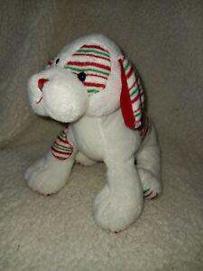 Webkinz Peppermint Puppy Plush Dog HM467 No Code Retired Christmas EUC C19