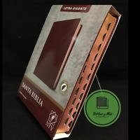 Biblia Letra Gigante 14pts Nueva Traduccion Viviente Imit Piel Rojo indices