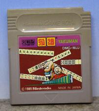 Yakuman Mah Jong Nintendo Gameboy Japanese Import Cartridge Only DMG-MJJ 1989