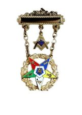 OES Order Eastern Star Past Patron Masonic Jewel