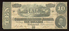 1864 USA $10 Confederate States America / Richmond VA