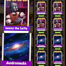10x Lenny the Left & 10x Andromeda ### Coin Master  Cards (Fastest Delivery)