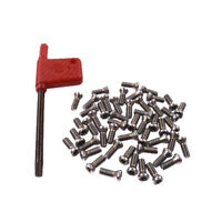 50pcs M3.5x10mmAlloy Steel Torx Screws For Replaces Carbide Insert Lathe Tool