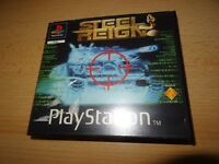 Sony Playstation 1 PS1 Game Steel Reign rental version