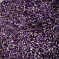 100g Mini-Amethyst Natural Crystal Stone Point Quartz Rock Chips Lucky Healing