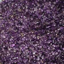 100g Mini-Amethyst Natural Crystal Stone Point Quartz Rock Chips Lucky Healing