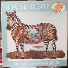AT THE WATERING HOLE BY RUANE MANNING - Complete - SHAPED BITS & PIECES PUZZLE