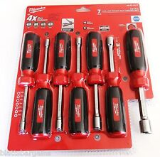 7PC MILWAUKEE HOLLOW SHAFT NUT DRIVER METRIC SET 48-22-2417 SCREW HEX SPLINE