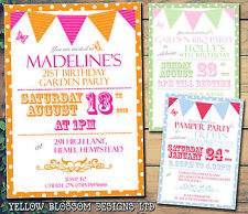 10 Afternoon Tea Party BBQ Summer Adult Party Invites Birthday Party Invitation