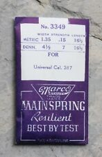 watch mainspring Swiss Nos part Vintage Universal Geneve Tricompax 287 caliber
