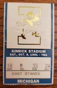 Iowa Hawkeyes Michigan Wolverines Football Ticket Stub 10/5 1991 D. Howard 2 TD