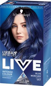 2x Schwarzkopf Live Urban Metallics Permanent Hair Colourant - Blue Mercury U67