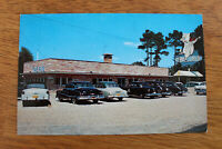 JESUP , Georgia , 1940s-60s; The PIG Restaurant Postcard Old Cars