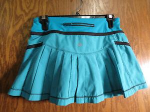 Lululemon 4 Run Reflection Skirt Surge Turquoise EUC!