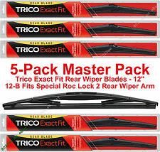 """5-Pack Trico 12-B (x5) 12"""" Rear Wiper Blades Fit Roc Lock 3 Rear Wiper Arm"""