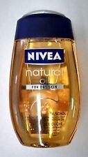 NIVEA NATURAL pampering OIL SHOWER GEL FOR DRY SKIN body wash