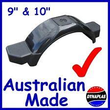 2 BLACK BOAT BOX TRAILER MUDGUARDS SUIT 9-10 inch WHEELS BIKE CAR 4X4 CAMPER NEW