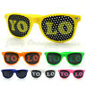 YOLO Lens Sunglasses Colorful Neon Classic Horn Rim Frame Unisex 6 Colors New