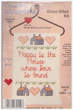 COUNTRY WIREWORKS CROSS-STITCH KIT (House Where Love is Found) new