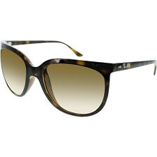 Ray-Ban Women's Cats 1000 RB4126-710/51-57 Brown Cat Eye Sunglasses