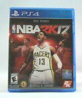 NBA 2K17  (Sony PlayStation 4, 2016) Used !!