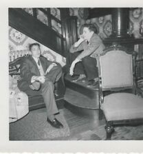 1956 B&W Photo Two Young Men in Suits