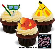 Novelty Snorkelling Mix Edible Stand Up Fairy Cake Cupcake Toppers Decorations