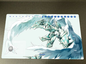 Anime DTCG Playmat Digimon Omegamon Trading Card Game TCG CCG Mat Pad With Zones