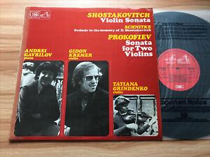 HMV ASD 3547 UK 1st SHOSTAKOVICH - VIOLIN SONATA ++ *GIDON KREMER* NM