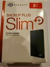 Seagate Backup Plus Slim 2TB External HDD -BLACK USB 3.0 (STHN2000401)