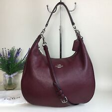 COACH *HARLEY* HOBO OXBLOOD PEBBLED LEATHER SHOULDER BAG *RRP $425*