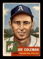 1953 Topps #279 Joe Coleman DP G/VG X1211033