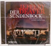Der Sündenbock + CD + Hörbuch Thriller + Jeffery Deaver + Spannend + Gerd Köster