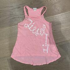 Diesel Designer Girls Singlet Tank Top, Pink, Size 5