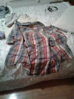 Mens 3XL Cherokee Forest Green and Red Plaid Shirt
