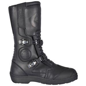 Oxford Explorer Buckle Boots Motorcycle Motorbike Black
