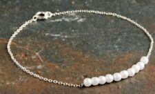 Dainty Silver Pearl Bracelet! Perfect Wedding Bracelet! Uk Seller! Fast Disostch