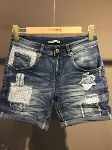Place du Jour kurze Damen Jeans Hose Shorts Hotpants tolle Details sexy 34 XS