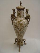 Latón de cerámica tapa-ánfora jarrón putto historicismo suntuosas nuevo 99937875-dss
