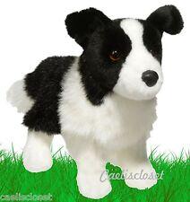 "Douglas Zippy BORDER COLLIE 10"" Plush Stuffed Puppy Dog Cuddle Toy NEW"