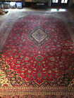 Antique Traditional Floral Hand-Knotted Wool Rug 12x17