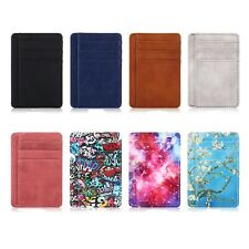 RFID Blocking Leather Credit Card Holder ID Case Pocket Wallets for Men / Women