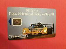 Carte téléphonique - PEUGEOR - 1er aux 24 heures du Mans en 92 et 93   (A8069)